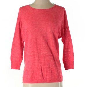 J.CREW Neon 3/4 Sleeve Lightweight Sweater